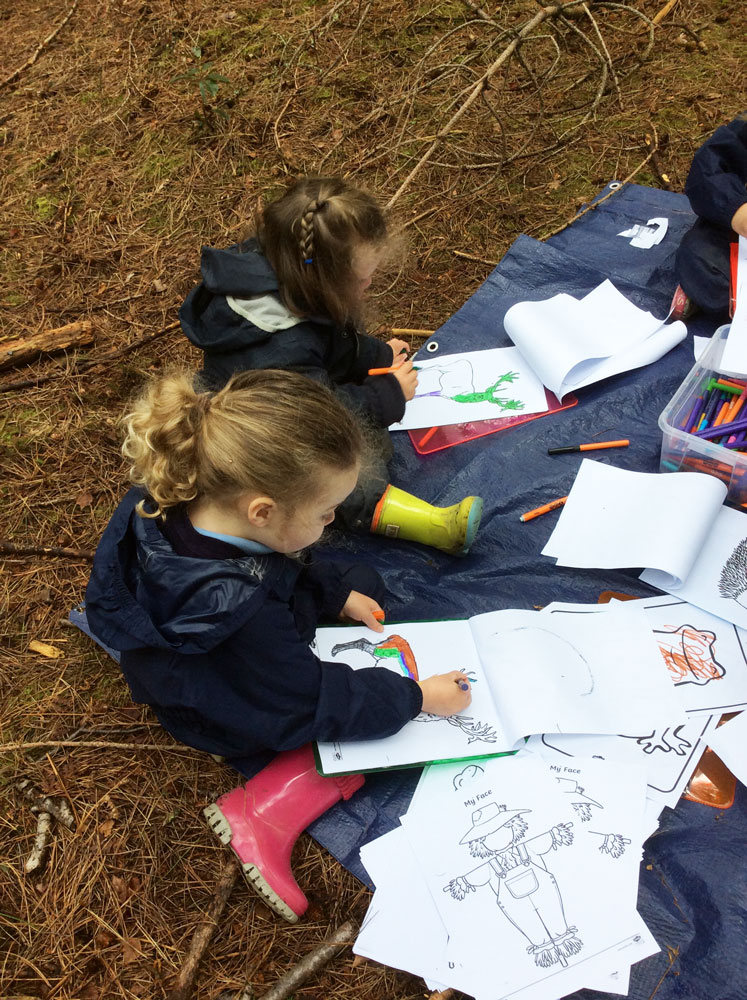 A chance to shine in a new environment! The EYFS team adventure to the near by woods to learn and play in the great outdoors...